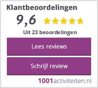 Gemiddelde review score op 1001activiteiten.nl